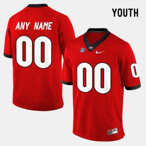 UGA Customized Jersey College Limited Football Red Youth #00 739248-588