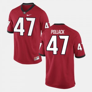 David Pollack UGA Jersey Red Alumni Football Game #47 For Men's 252504-234
