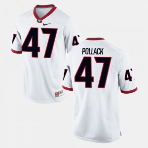 David Pollack UGA Jersey #47 White Alumni Football Game Mens 118985-710