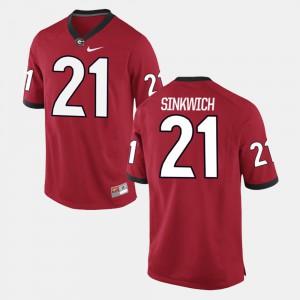 Red Alumni Football Game Frank Sinkwich UGA Jersey #21 Men's 119391-882