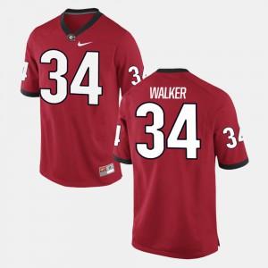 Herschel Walker UGA Jersey Alumni Football Game #34 Red For Men 573833-498