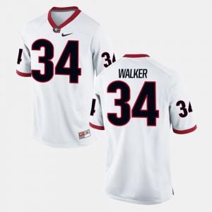 White For Men Alumni Football Game Herschel Walker UGA Jersey #34 171893-895