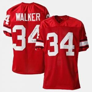Red #34 College Football Herschel Walker UGA Jersey Mens 318838-202