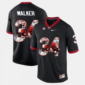Men Black Herschel Walker UGA Jersey #34 Player Pictorial 802186-774