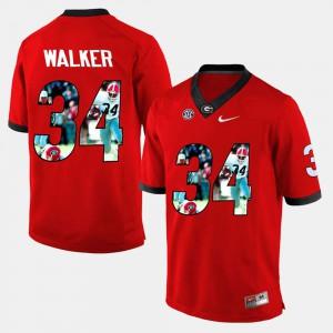 #34 Herschel Walker UGA Jersey Red Men Player Pictorial 922708-673