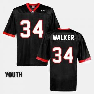 Black #34 College Football Kids Herschel Walker UGA Jersey 167212-748