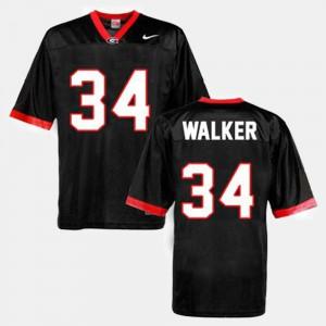 Mens Black College Football Herschel Walker UGA Jersey #34 592113-240