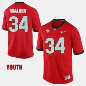 Youth(Kids) Red Herschel Walker UGA Jersey College Football #34 865720-558