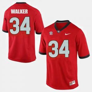 Herschel Walker UGA Jersey College Football Red #34 For Men 431154-306