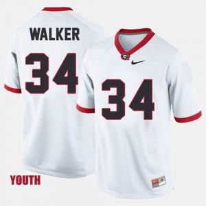For Kids Herschel Walker UGA Jersey College Football #34 White 419167-890