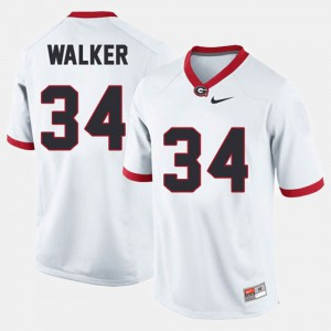 White Men's College Football #34 Herschel Walker UGA Jersey 904631-556