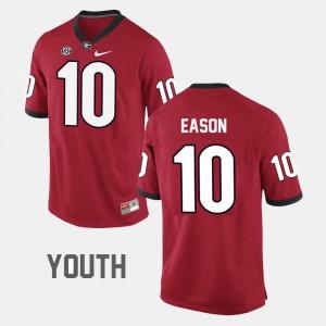 #10 Red College Football Jacob Eason UGA Jersey Youth(Kids) 571683-852