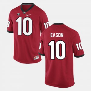 For Men #10 College Football Red Jacob Eason UGA Jersey 798130-645