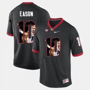 Jacob Eason UGA Jersey #10 Player Pictorial Men's Black 414629-789