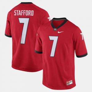 #7 Matthew Stafford UGA Jersey For Men Red Alumni Football Game 469173-230