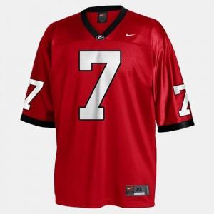 Matthew Stafford UGA Jersey College Football #7 Youth(Kids) Red 396245-599