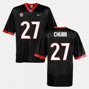 College Football #27 Nick Chubb UGA Jersey Black Men 716760-579