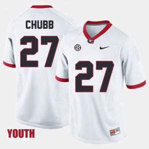 Youth(Kids) White Nick Chubb UGA Jersey College Football #27 564718-496