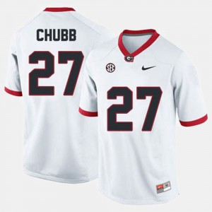 White College Football Nick Chubb UGA Jersey #27 For Men's 707167-970