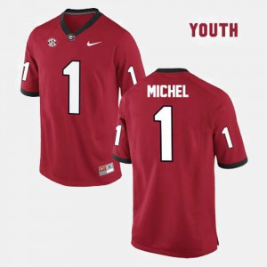 Kids College Football #1 Sony Michel UGA Jersey Red 479002-309