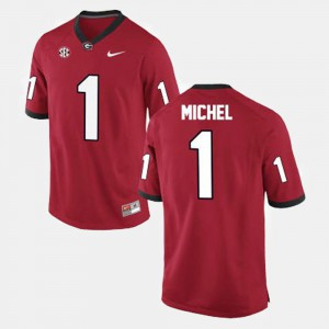 College Football For Men's Sony Michel UGA Jersey Red #1 362057-543