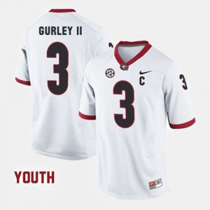 Todd Gurley II UGA Jersey College Football For Kids #3 White 780680-244