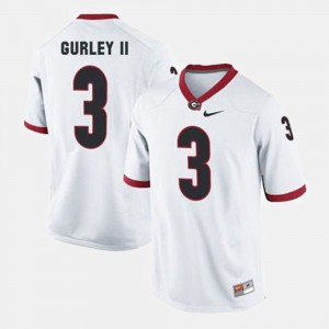 College Football White For Men's #3 Todd Gurley II UGA Jersey 387578-219