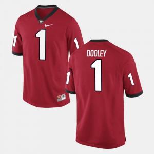 Men's Red Alumni Football Game #1 Vince Dooley UGA Jersey 621872-745