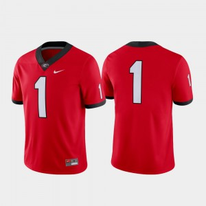 UGA Jersey Red For Men's Game Football #1 194160-589