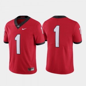 College Football UGA Jersey Red #1 Limited For Men's 674618-497