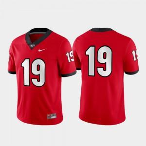 UGA Jersey Red Game #19 Men 142890-524