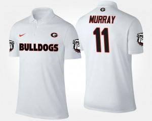 Aaron Murray UGA Polo Men's White #11 955856-885