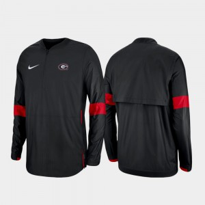 2019 Coaches Sideline Quarter-Zip Men's UGA Jacket Black 927146-588