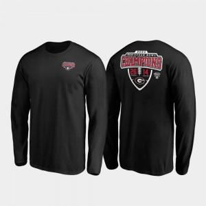 Hometown Lateral Long Sleeve 2020 Sugar Bowl Champions UGA T-Shirt Men's Black 657755-557