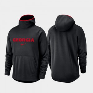 Men Basketball Team Logo Pullover Spotlight UGA Hoodie Black 330331-493