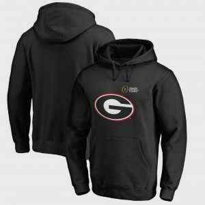 Black UGA Hoodie Bowl Game For Men College Football Playoff 2018 Rose Bowl Bound Checkdown 631465-382