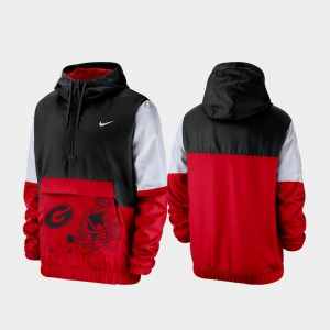 Men UGA Jacket Colorblock Anorak Quarter-Zip Black 543703-708