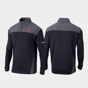 Quarter-Zip Pullover UGA Jacket Black Omni-Wick Standard Men's 681965-555