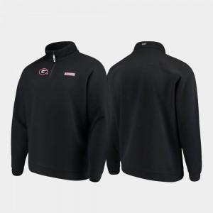 Quarter-Zip UGA Jacket Shep Shirt Black For Men's 726021-114
