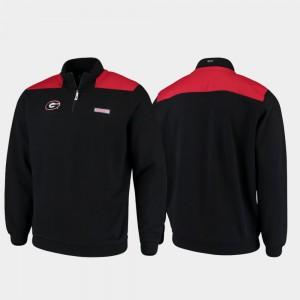 Quarter-Zip Pullover Shep Shirt UGA Jacket Black Mens 659238-508