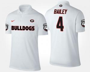 Men's Champ Bailey UGA Polo White #4 806762-648