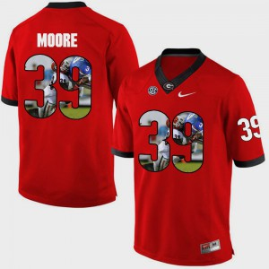 Pictorial Fashion Corey Moore UGA Jersey #39 For Men Red 689601-853