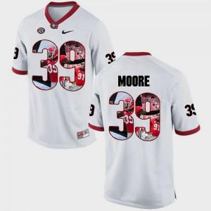 Pictorial Fashion Corey Moore UGA Jersey White #39 Men's 794664-362