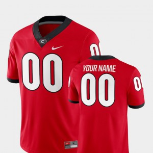 2018 Game UGA Customized Jerseys Red College Football For Men #00 972069-610