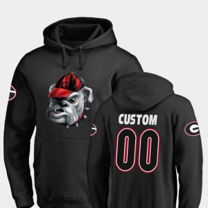 #00 Football Midnight Mascot UGA Custom Hoodies Men Black 478050-526
