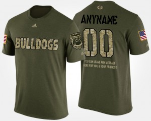 Short Sleeve With Message #00 Military Men's UGA Customized T-Shirt Camo 847053-187
