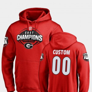 Red UGA Customized Hoodies #00 For Men 2018 SEC East Division Champions Football 599350-635