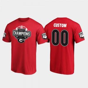 UGA Custom T-Shirts #00 Red 2019 SEC East Football Division Champions Men 845194-194