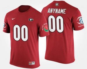 #00 Red Bowl Game Men UGA Custom T-Shirts Southeastern Conference Rose Bowl 456177-370