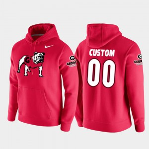 College Football Pullover Red Men UGA Customized Hoodies Vault Logo Club #00 460356-128